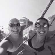 Unterwasser mit einer Schwimmkollegin aus der Türkei